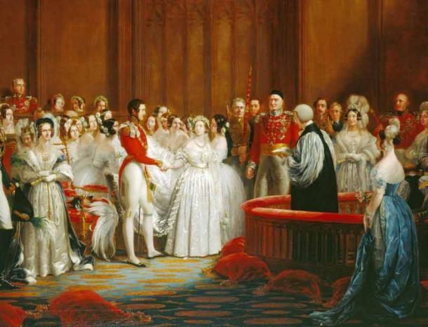 La reina Victoria sirvió un pastel de frutas en su boda en 1840. (Dominio público)