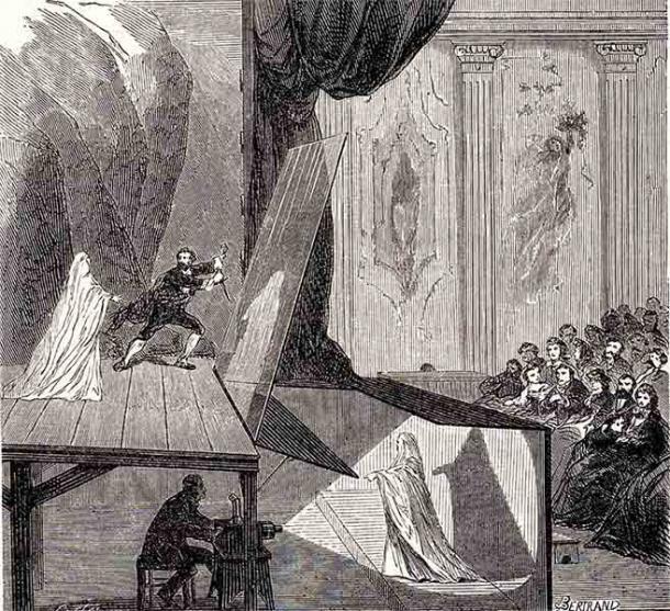 En la Inglaterra victoriana, la Royal Polytechnic Institution fue el sitio de Pepper's Ghost, una famosa ilusión creada por John Henry Pepper. (Dominio público)