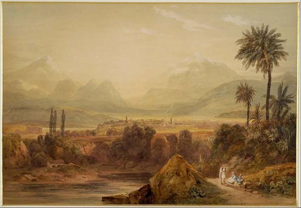 Vista de Tebas (1819) de Hugh William Williams. (Dominio público)