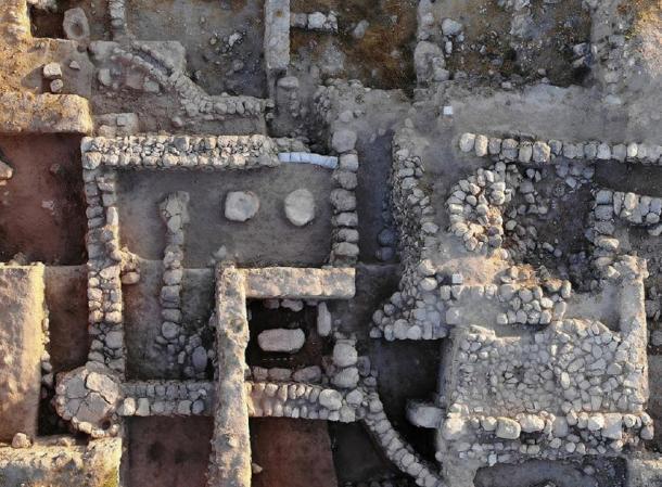 Vista del templo de la Edad del Hierro en Beth Shemesh. (Imagen: Dr. Zvi Lederman)