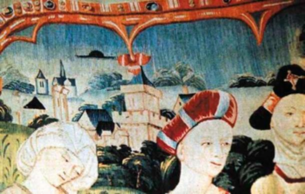 Vida de la Virgen María, tapiz medieval de Tournai, Bélgica. (Basílica de Notre Dame Beaune / Dominio público)