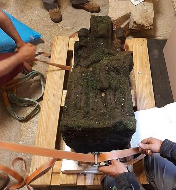 La estatua de la Virgen María fue removida y llevada al Museo de Peregrinación y a Santiago. (Museo de la Peregrinación y Santiago)