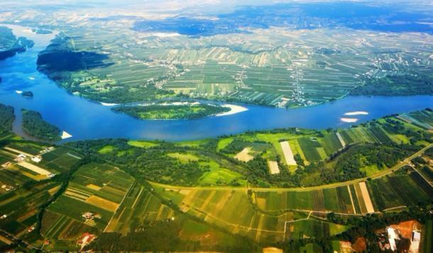Toma del río Vístula en Polonia, donde se encontró el naufragio. (itsmejust / Adobe stock)