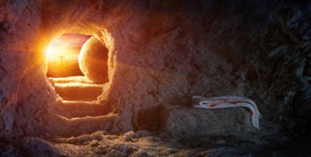 Donde había puesto el cuerpo de Jesús, Pedro solo podía ver ropa de lino. (Romolo Tavani / Adobe Stock)
