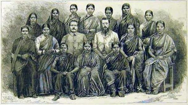 Doctoras en formación para atender a pacientes, 1887, de The Graphic. (Dominio público)