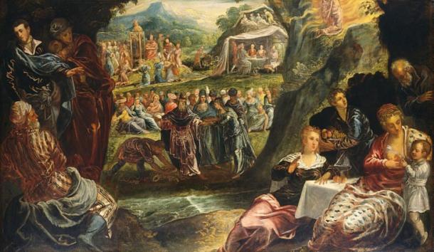 'Adoración del becerro de oro' (hacia 1560) de Jacopo Tintoretto. (Dominio público)