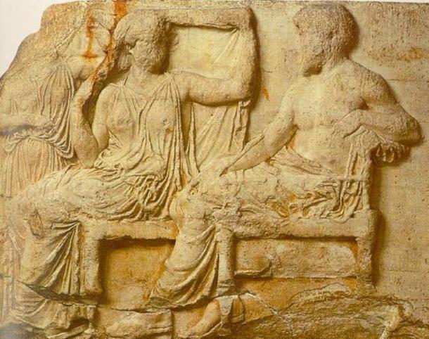 Zeus y Hera del friso este del Partenón, 430 a.C. (Dominio público)