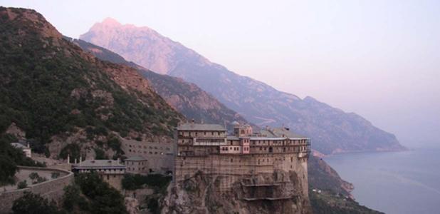 Uno de los 40 monasterios en el Monte Athos.