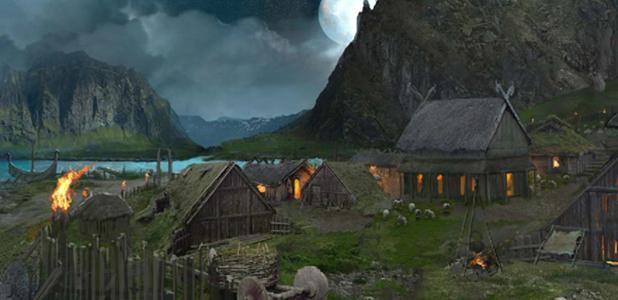 Portada - Impresión artística de un campamento vikingo. (Vance Kovaks)