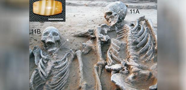 Portada - Primer ejemplo claro conocido de un entierro de pareja perteneciente a la antigua cultura Harappa. Fuente: ACB Journal of Anatomy and Cell Biology