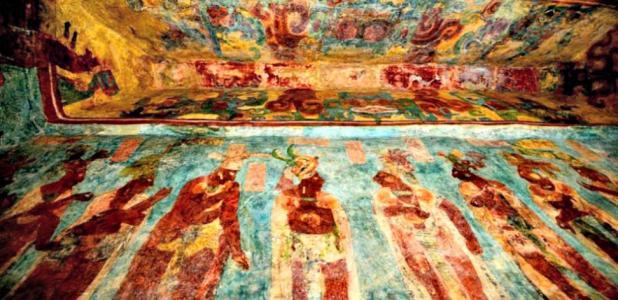 Portada - Fotografía de uno de los impresionantes murales de Bonampak. (Fotografía: Mauricio Marat/INAH.)