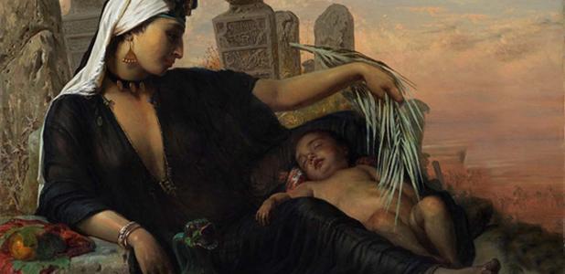 Portada - Mujer egipcia fellah con su hijo, óleo de Elisabeth Jerichau-Baumann, 1872 (CC BY 3.0)