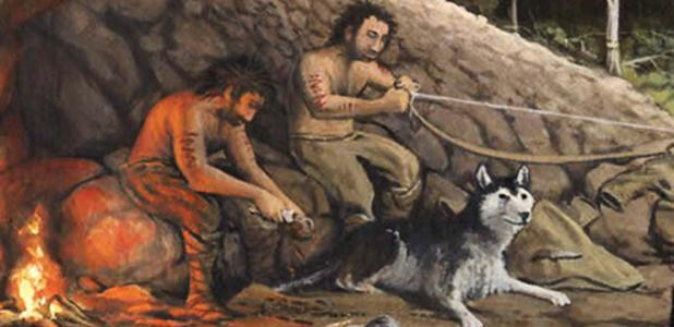 Portada - Los cazadores neolíticos de lo que hoy es Jordania utilizaban perros domesticados como compañeros de caza. Fuente: Mr. Meiners Sixth Grade Social Studies