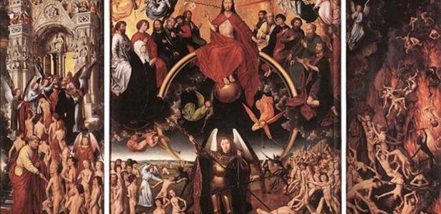 Portada - Tríptico (abierto) 'El juicio final' (1467-1471), óleo sobre tabla de Hans Memling. Fuente: Dominio público