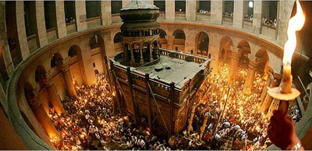 Portada - La tumba de Jesucristo en la Iglesia del Santo Sepulcro, Jerusalén. Fuente: The O.K Corral