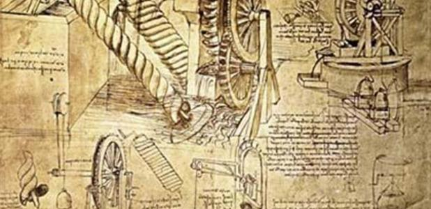 Bocetos de Invenciones por Leonardo da Vinci