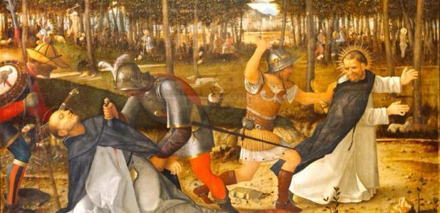 Representación de las cruzadas albigenses contra los cátaros. Fuente: Yelkrokoyade / Dominio público.