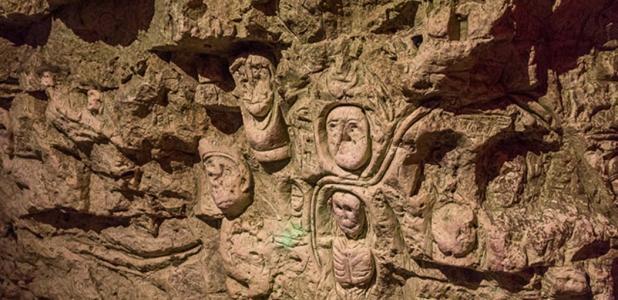 Tallado en cuevas de Chislehurst.