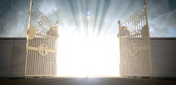 Puertas de los cielos de apertura.