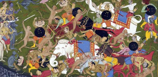 Batalla en Lanka, Ramayana, por Sahib Din