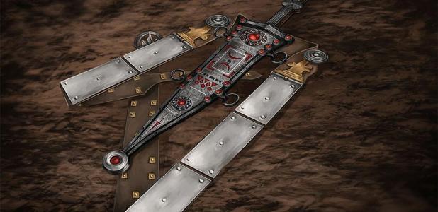 Reconstrucción de cómo se vería la daga romana con el cinturón. Fuente: LWL-Römermuseum Haltern am See / Facebook.