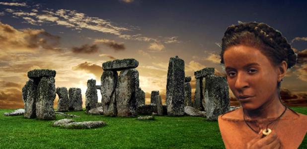 Stonehenge (Albo / Adobe Stock) y la cara reconstruida de la mujer Whitehawk del Neolítico. (Pabellón Real y Museo, Brigthon)