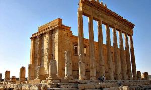 Portada-Panorámica del ya destruido Templo de Baal (Wikimedia Commons)