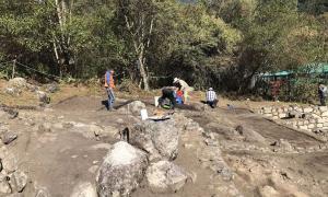 Se han encontrado baños incas ceremoniales en el complejo en Chachabamba, Parque Nacional Machu Picchu en Perú.