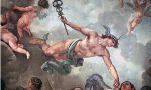 """'La Elevación del Gran Elector al Olimpo"""". Pintura sobre el techo del Palacio de la Ciudad, en Potsdam."""