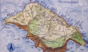 Portada-Mapa de la isla de Pitcairn (public domain)