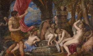 Portada - 'Acteón sorprende a Diana en el baño' (1556-1559), óleo de Tiziano.