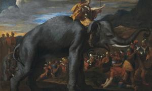 Portada-Aníbal cruzando los Alpes a lomos de un elefante. (Public Domain)