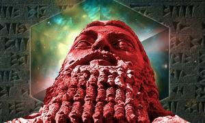 Portada - Universo ordenado y texto cuneiforme (Dominio público). Estatua de Gilgamesh. (CC BY 2.0)