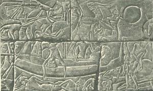 Barco de guerra Filisteo. (Wikimedia Commons)