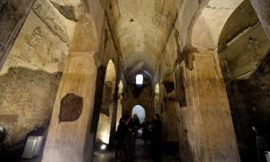 Portada-El interior de la basílica subterránea de Porta Maggiore, en Roma, abierta al público en abril del 2015 (Foto: artsblog.it)