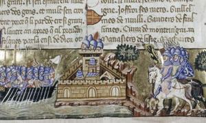 Portada - Los cruzados atacan Constantinopla, ilustración de un manuscrito veneciano de la historia de la Cuarta Cruzada escrita por Geoffreoy de Villehardouin. (Public Domain)