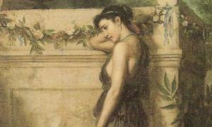Portada - 'Gone, but not Forgotten.' (1873) óleo de John William Waterhouse. (Public Domain)