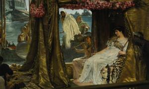 Portada-Marco Antonio y Cleopatra (1883), obra de Lawrence Alma-Tadema. (Public Domain)