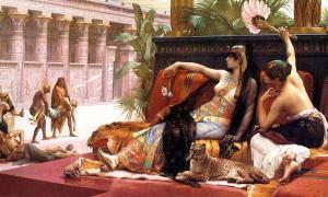 Portada-Cleopatra probando venenos en prisioneros condenados a muerte, óleo de Alexandre Cabanel, 1887. (Public Domain)