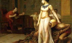 Portada - Cleopatra y César (1866). Óleo de Jean-Léon Gérôme. (Public Domain)