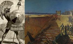 Portada - Cuitláhuac. (Dominio público). 'Los últimos días de Tenochtitlán, conquista de México' (1899). Pintura de William de Leftwich Dodge. (Dominio público)