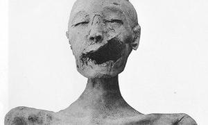 "Portada-Vista frontal de la momia de la ""Dama Joven"". (Wikimedia Commons)"