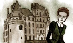 Portada - Dibujo del Château de Brissac y la 'Dama Verde'. Imagen original