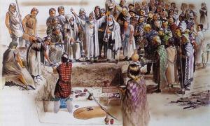 Portada - Grupo de trinovantes junto a una fosa en Colchester, ilustración de Peter Froste. (Camulos)