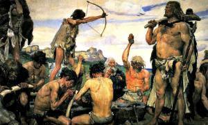 Portada-'La Edad de Piedra' (1882-1885), detalle de una pintura obra del artista ruso Viktor M. Vasnetsov. (Public Domain)