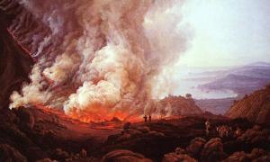 Portada-El Vesubio en erupción, pintura de Johan Christian Dahl.jpg