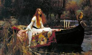Portada-La Dama de Shalott, óleo de John William Waterhouse (Wikipedia)