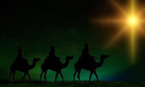 Portada - La Estrella de Belén guía a los tres Reyes Magos (Public Domain)