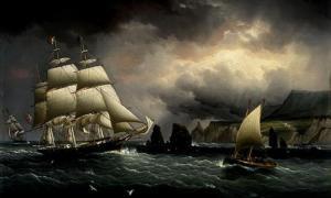 "Pintura del ""Flying Cloud"" cerca de la Isla de Wight, en Inglaterra. Public Domain"