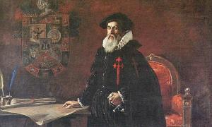 Portada - Francisco Pizarro, óleo de Julio Vila y Prades (1925). Pinacoteca Municipal Ignacio Merino, Lima, Perú. (Public Domain)
